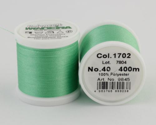 1702/9845 Polyneon №40 высокопрочная вышивальная нить, 100% полиэстер, 400 м