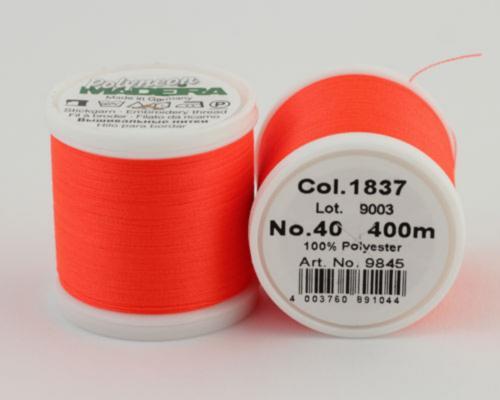 1837/9845 Polyneon №40 высокопрочная вышивальная нить, 100% полиэстер, 400 м