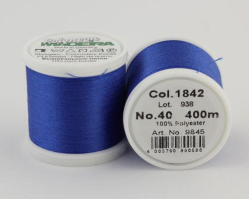 1842/9845 Polyneon №40 высокопрочная вышивальная нить, 100% полиэстер, 400 м