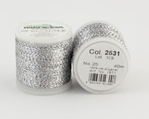 2531/9811 METALLIC №25 металлиз. полиэфир, нить устойчива к хлору/кипячению, 40 м