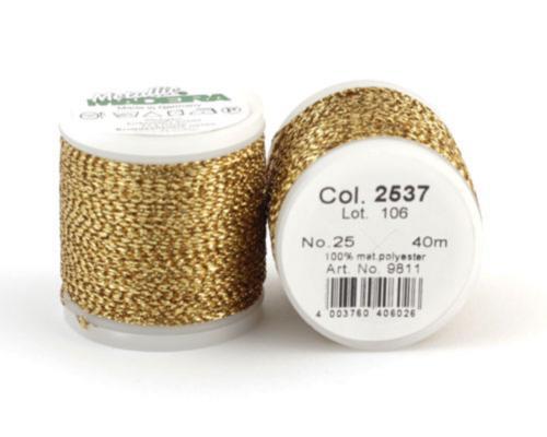 2537/9811 METALLIC №25 металлиз. полиэфир, нить устойчива к хлору/кипячению, 40 м