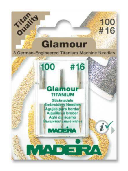 9453 Иглы для ниток Glamour № 12 10016 (3 иглыкарточка) Madeira