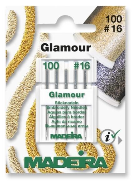 9453 Иглы для ниток Glamour № 12  10016 (5 иглкарточка) Madeira