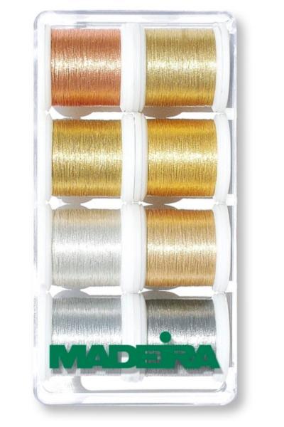 8019 Коробка ниток металлик Smooth (8х200м)
